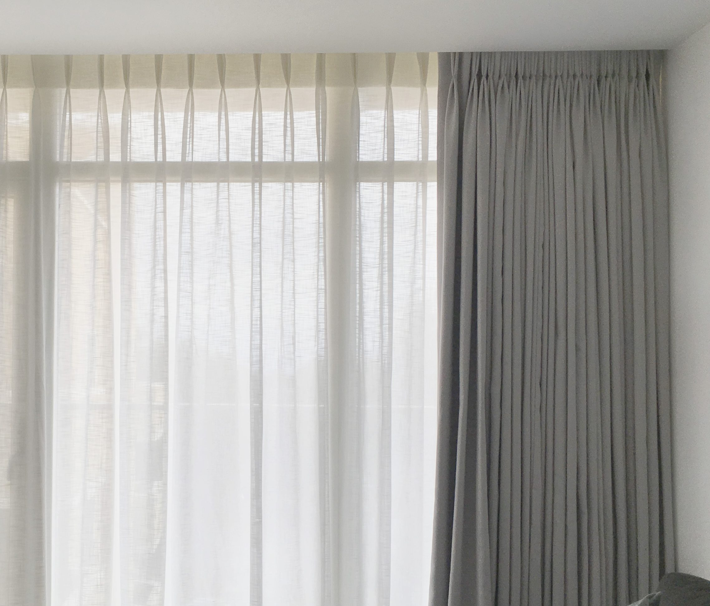 Hand Made Curtain With Pleats